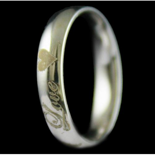 Silver Floral design Band Rings