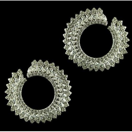 92.5 Sterling Silver Earrings Studded Swarovski Stones