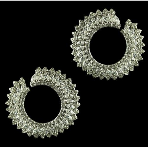 92.5 Sterling Silver Earrings Studded Swarovski Stones