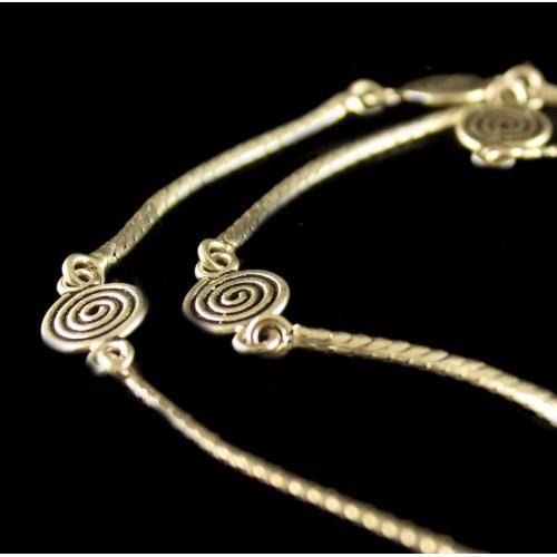 Silver Oxidized Anklets And Beads