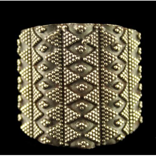 Silver Oxidized Bridal Design Ring