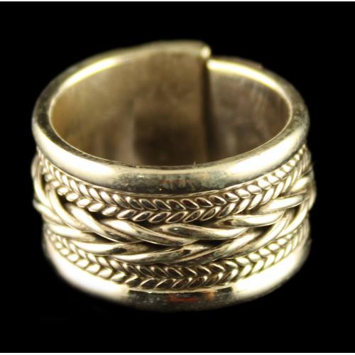 Silver Oxidized Casual Design Ring