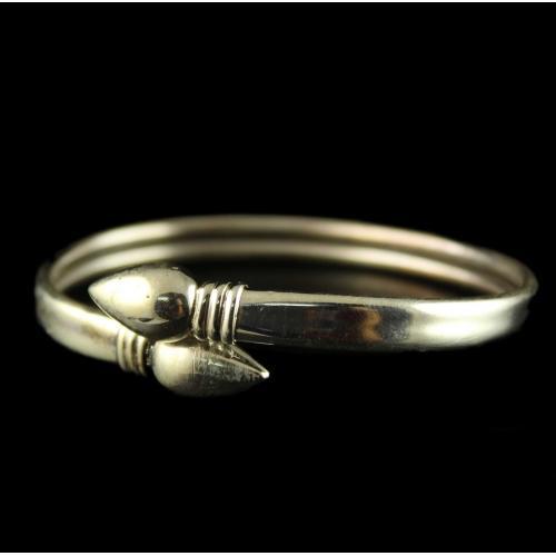 Silver Oxidized Casual Design Bangle