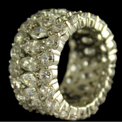 Silver Swarovski Band Zircon Ring