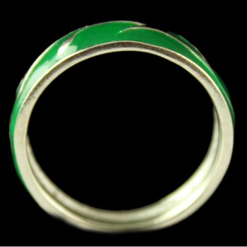 Silver Gold Plated Fancy Green Rings