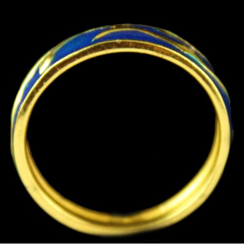 Silver Gold Plated Fancy BlueRing