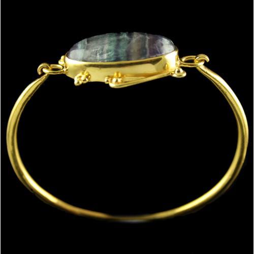 Silver Plated Fancy Design Fluorite Stone Bracelets