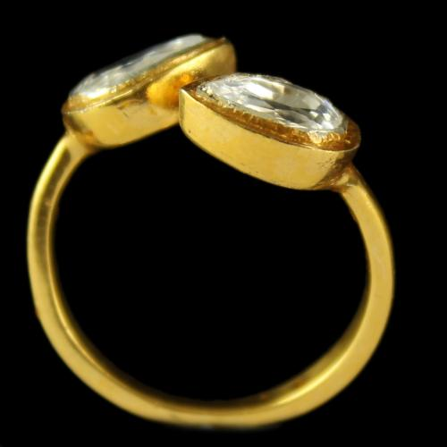 Gold Plated Floral Design Divine Ring
