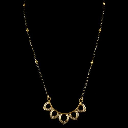 Silver Gold Plated Chains With White Cz Stones
