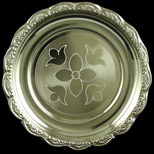 Silver Plated Fancy Design Designer Plates
