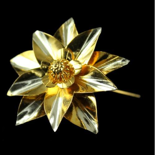 Silver Gold Plated Fancy Flower