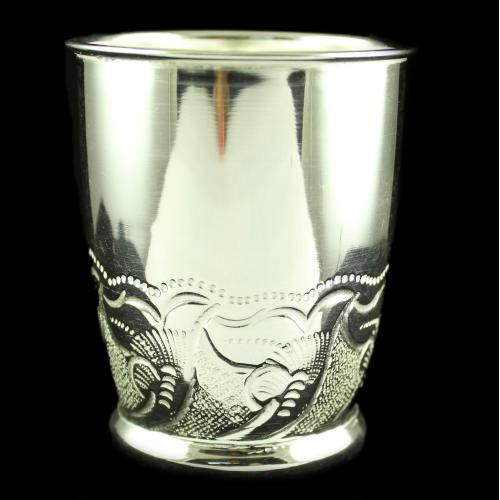 Silver Plated Fancy Design Tumblers
