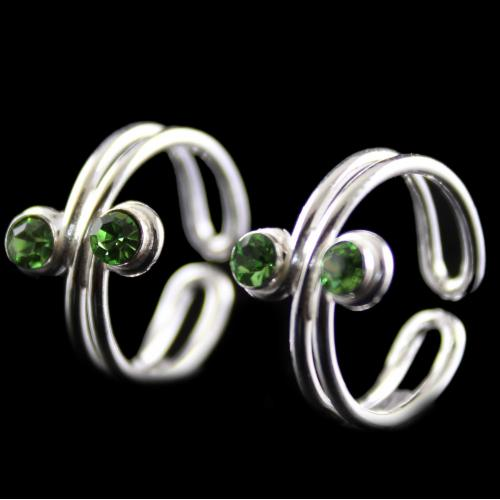 Silver Stone Toe Ring