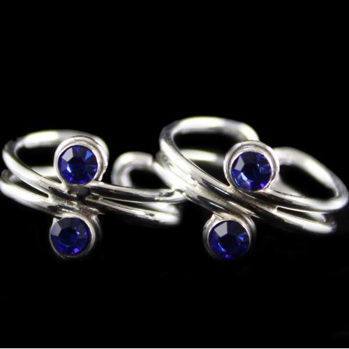 Silver Plated Fancy Design Toe Rings