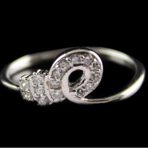 Silver Fancy Design Rings Studded zircon Stones