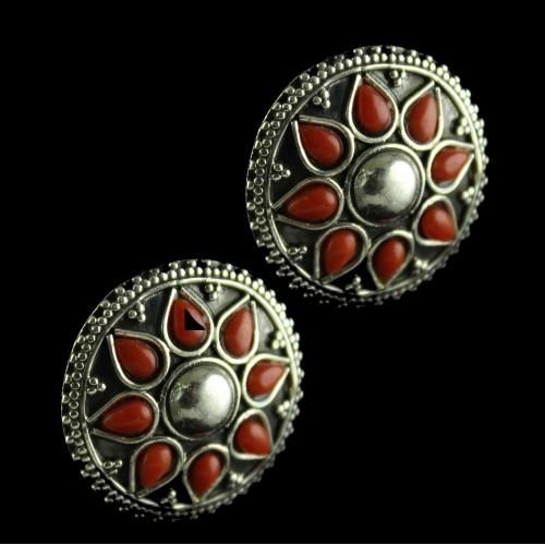 Silver Oxidized Caual Design  Earrings