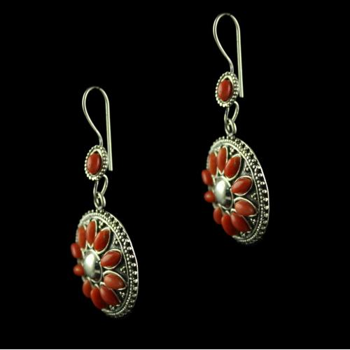 Silver Oxsided  Hanging Design  Earrings