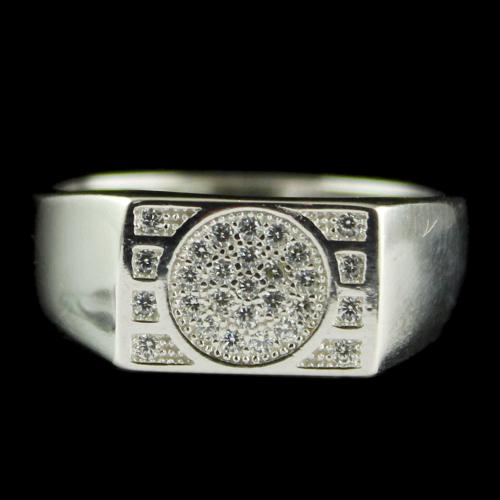 Silver Fancy Design Mens Ring