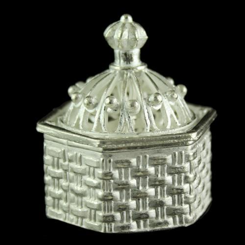 Silver Kumkum Box