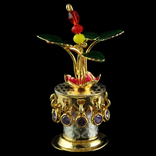 Silver Gold Plated Enamal Thulasi Madam