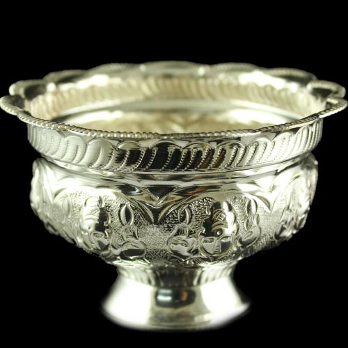 Silver Pooja Items Sandal Cup