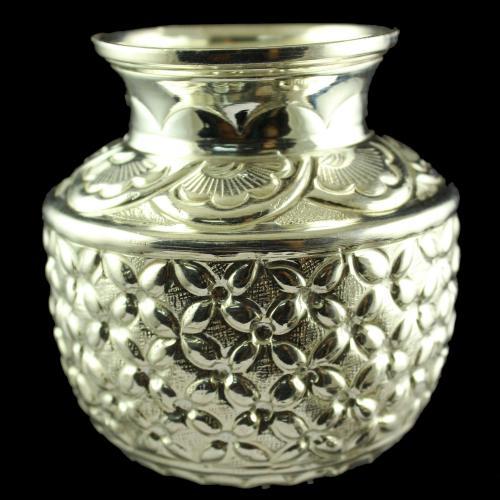 Silver Nagas Design Kalash