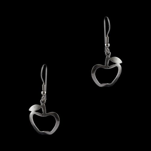 Silver Fancy Design Hanging Earrings