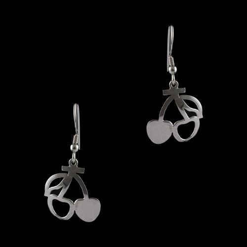 Silver Fancy Design Hanging Earrings