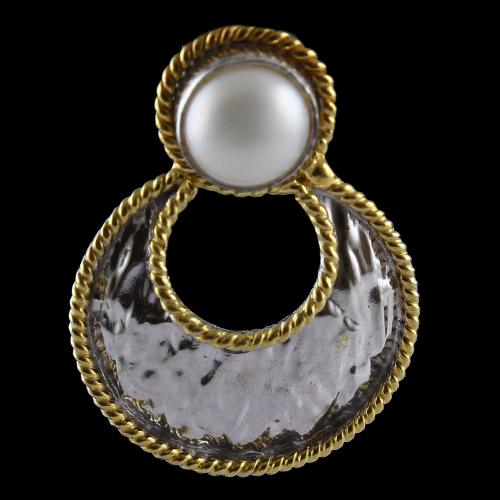 Chandbali Earrings With Pearls
