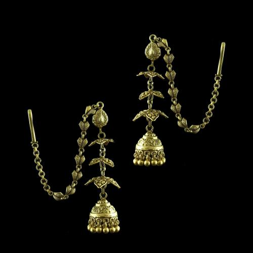 Antique Gold Plated Jhumka