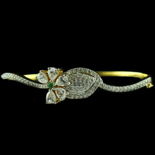 Gold Plated Casual Bracelet With ZIrcon Stones