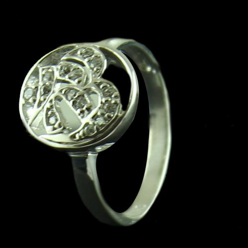 Silver Casuaol Ring Zircon Stone