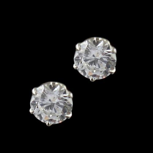 Casual Earring Studded Zircon Stone