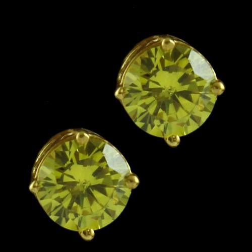 Gold Plated Casual Earring Studded Zircon Stone