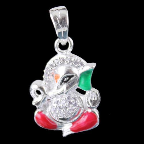 Silver God Ganesha Pendant