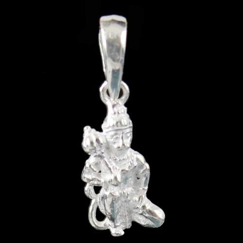 Silver God Hanuman Pendant