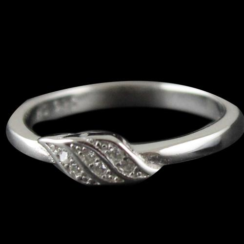 Silver White Stone Color Ring For Woman