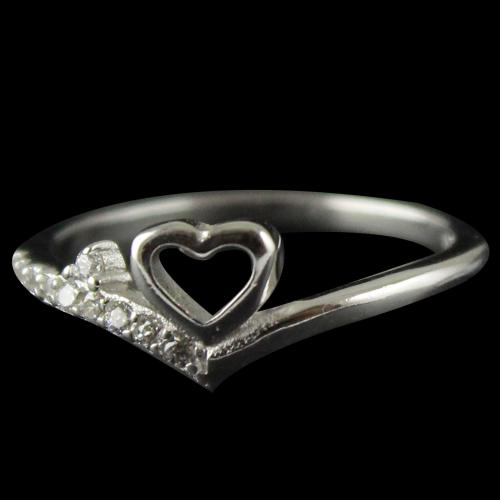 Sliver Stone Ring For Woman