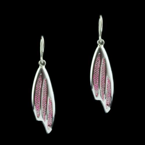 Silver Fancy Design Hanging Earring