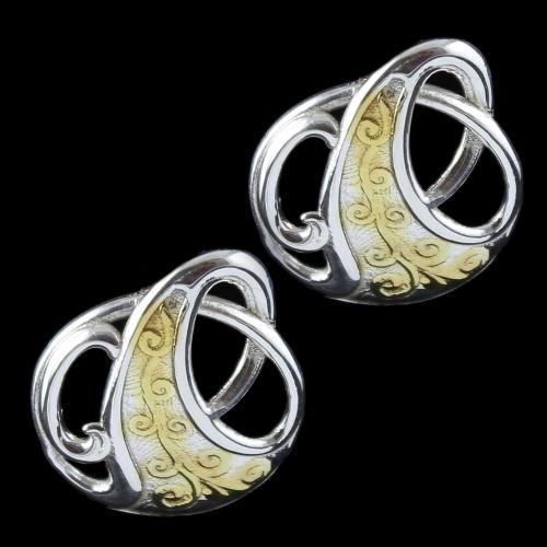 Silver Fancy Design Casual Earring