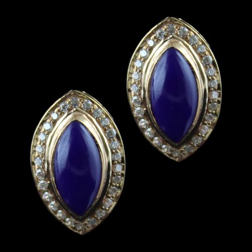 Rose Gold Casual Earring Studded Violet And Zircon Stones