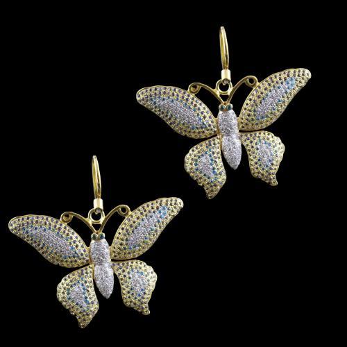 Butterfly Hanging  Zircon Stones