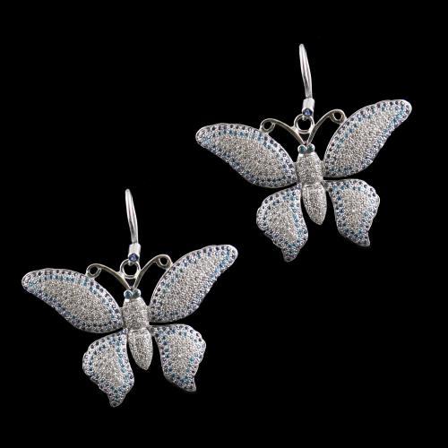 zircon Stones Butterfly Haning Earrings