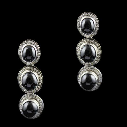 onyx And Zircon Victoria Drops Earring