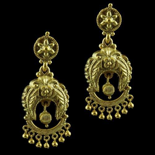 Gold Plated Fancy Drops Earring