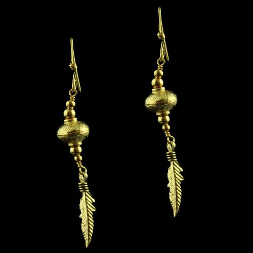 Gold Plated Fancy Hanging Earring