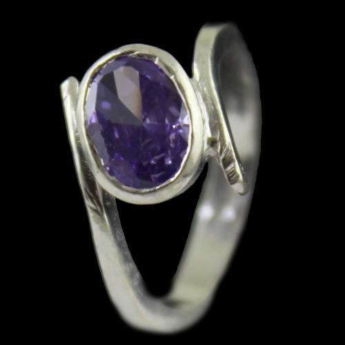Amethyst Mens Casual Ring