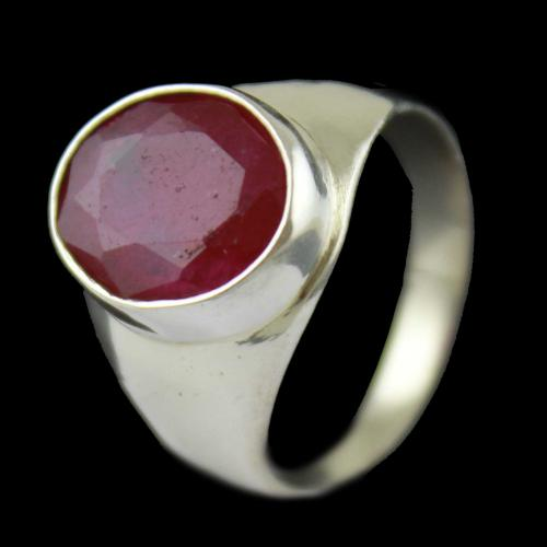 Red Stones Mens Casual Ring
