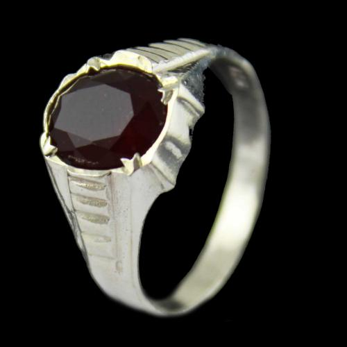 Red Mens Casual Ring
