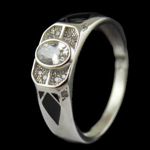 Zircon Stone Mens Ring